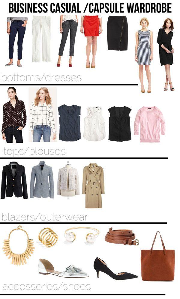 business casual capsule wardrobe! (via Bloglovin.com )