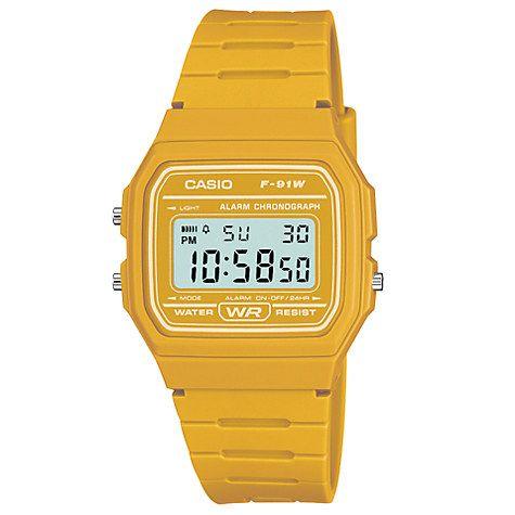 Buy Casio Unisex Core Digital Chronograph Rectangular Dial Rubber Strap Watch Online at johnlewis.com