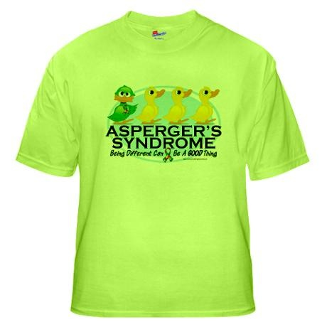 Asperger's Syndrome Ugly Duck Green T-Shirt