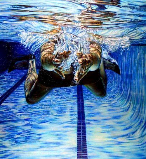 Underwater breaststroke swimming
