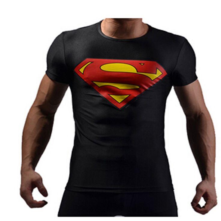 New-3D-T-Shirt-Men-Fashionable-Sport-T-Shirt-Black-Superman-Spiderman-Iron-Man-Captain-America.jpg (800×800)