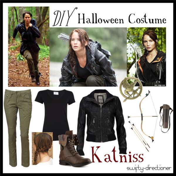 """DIY Halloween Costume: Katniss Everdeen"" by swifty-directioner on Polyvore"
