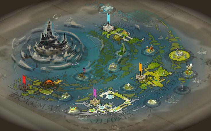 WAKFU new world map by Sevpoolay.deviantart.com on @deviantART