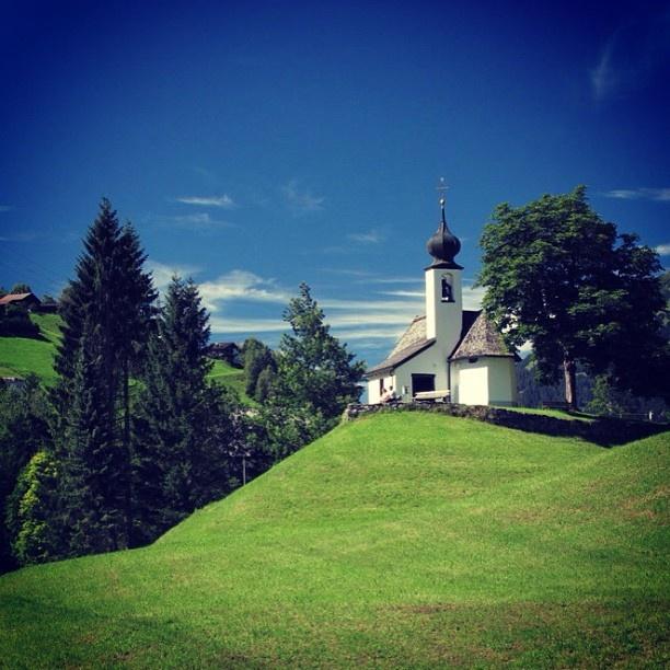 Perfect summer day in Montafon - Austria.