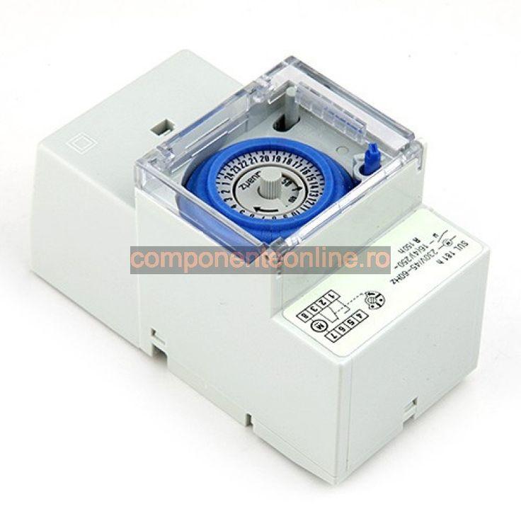 Temporizator mecanic de panou, montabil pe sina DIN, SUL181H - 111305
