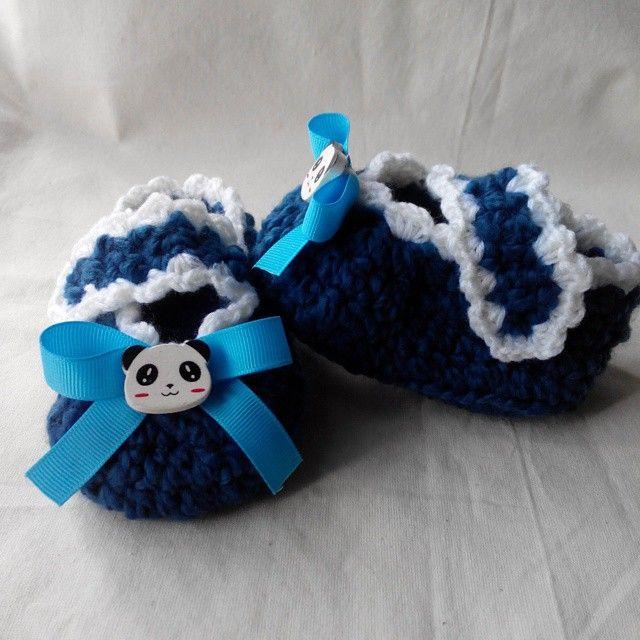 Crochet Booties for Panda Lover ^^