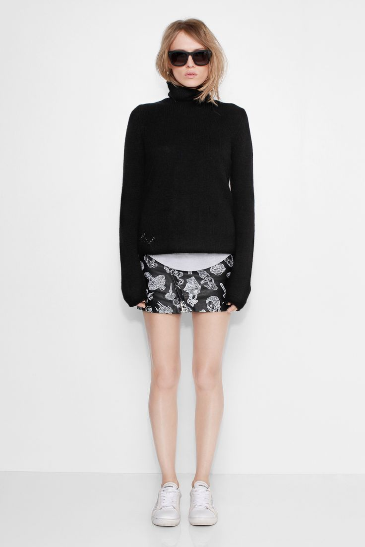 Black cashmere Turtleneck Sweater Zadig & Voltaire