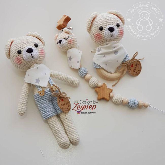 Amigurumi Crochet Teddy Bear (Sevimli Ayı) Pattern Yapılışı | 650x650