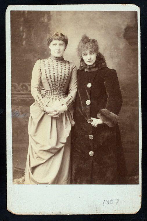 Lillie Langtry & Sarah Bernhardt: Bernhardt Lillie, Langtry Original, Card Photo, Sarah Bernhardt, Aka Lillie, Original Cabinet, Actresses Sarah