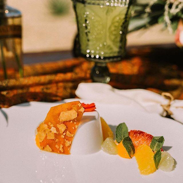 Coconut & Lemongrass Pannacotta - Coconut Chip Brittle, Citrus Salad, Fresh Mint, Lemon Sorbet