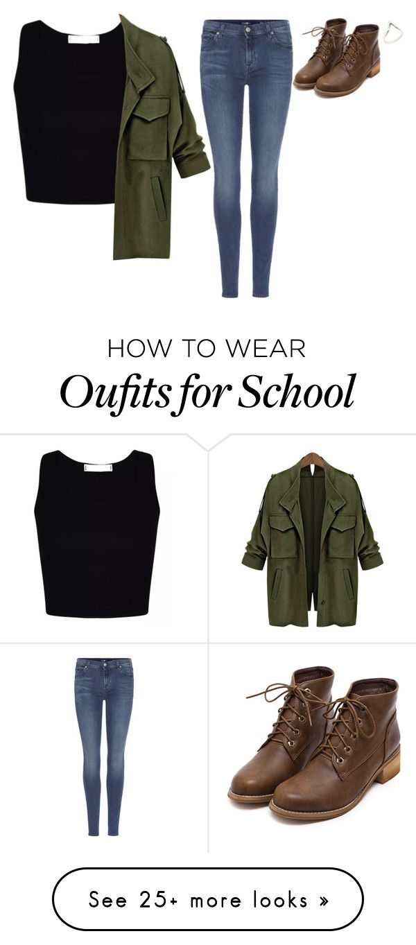 """&.DO YOU HAVE SCHOOL TODAY?"" by jxst-like-galaxy on Polyvore featuring 7 For All Mankind"