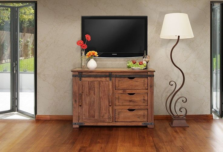 Granville Parota Wood 50 inch TV Stand - Crafters & Weavers - 1