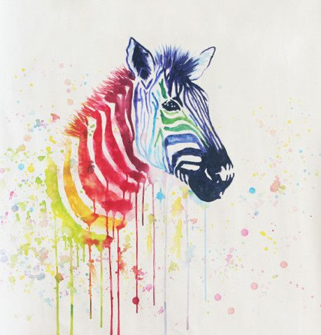 Rainbow Zebra - Available for sale at creativestrokes.com.au