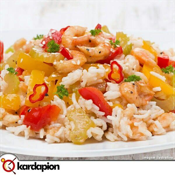 Arroz de Camarão Para não ficar na vontade de comer, segue sugestão de onde encontrar: www.kardapion.com/arroz-de-camarao