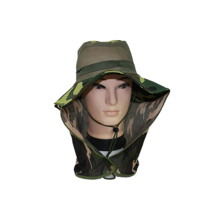 Outdoor Sports Breathe Fishing Hat Camouflage Bucket Hat Fisherman Camo Jungle Bush Hat Boonie UV Protection Wide Brim Sun Caps