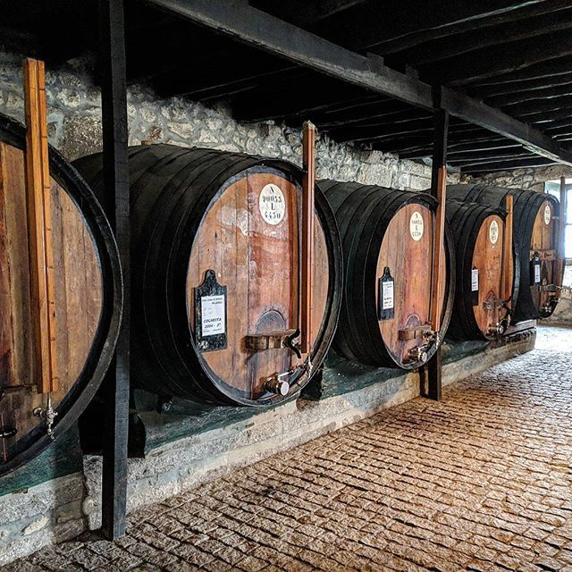 Deja-vu to my Bourbon tour from 2 years past...I'm doing the Port tour today #porto #portwine #drunkbynoon . . . #port #portwine #tour #alcohol #travel #travelling #traveller #travelgram #instatravel #instatravelling #europe #food #drinks #foodandtravel #enjoy #weekend #portugal #porto #cask  #breadandwine #wine #chilling #lunch #quaint #history #winecountry #aging