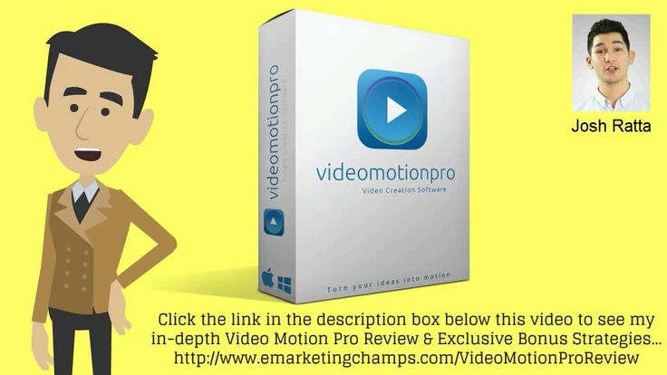 Check out this exclusive review of the Video Motion Pro and learn about the advantages and dis-advantages of this product. -- Video Motion Pro, Video Motion Pro Review, Video Motion Pro Bonus, Video creation Tool, video editing software, video marketing, youtube marketing, watch this, see this video -- https://www.youtube.com/watch?v=PT4hC9wpNXY