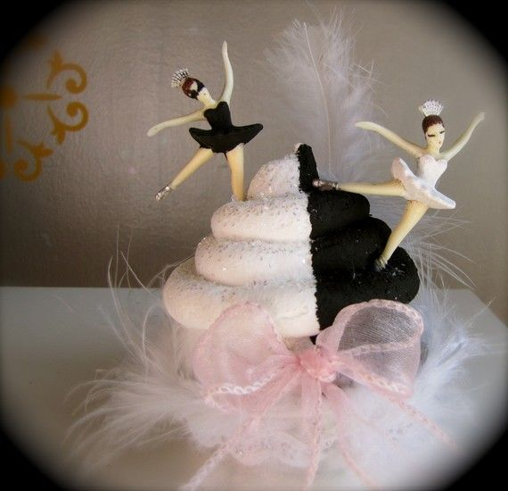 "Fake Cupcake ""Swan Lake"" Tribute Cupcake 12 Legs Original Concept Cupcake Movie Collector Series on Etsy, $24.00"