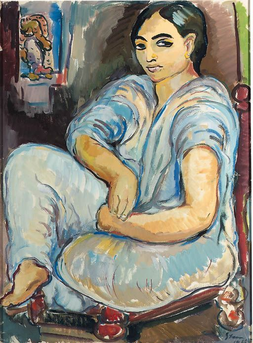 Seated Arab Woman, Irma Stern