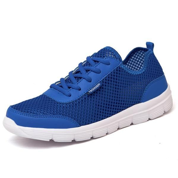 2018 Summer Men Sneakers Shoes Breathable Casual Shoes Fashion Comfortable Lace up Unisex Sneakers Shoes Plus Size 35-48