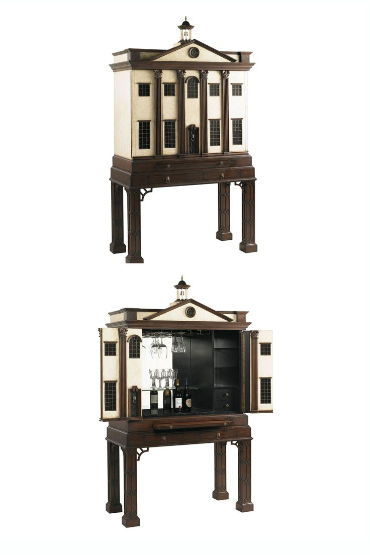 best home accent pieces images on pinterest  accent pieces  - crafted in solid mahogany this replica of a federal building is a fullyoutfitted bar bar cabinetsaccent piecesfederal