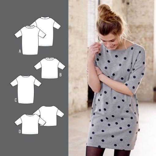 Kjole og bluse - mønster fra Stoff og stil