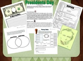 Presidents' Day Mini Unit Freebie