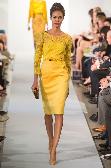 Oscar de la Renta Ready to Wear 2013 - Fashion Diva Design Mother of the groom dress  perfect for sister inlaw