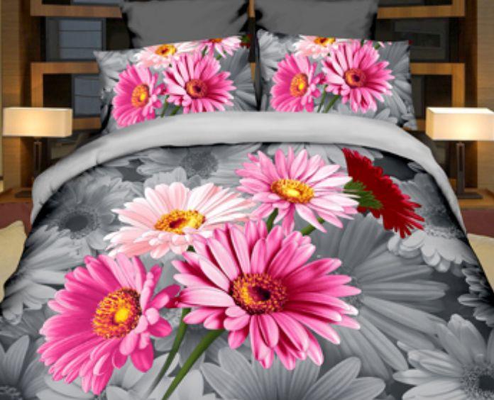 Ružová sedmokráska posteľné obliečky z mikrovlákna