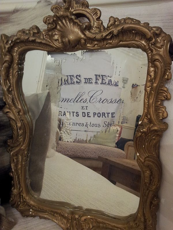 how to age a mirror with limescale remover and old paper
