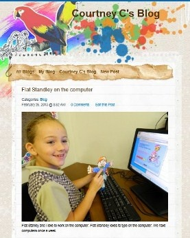 Grade 2s blogging away on kidblog.