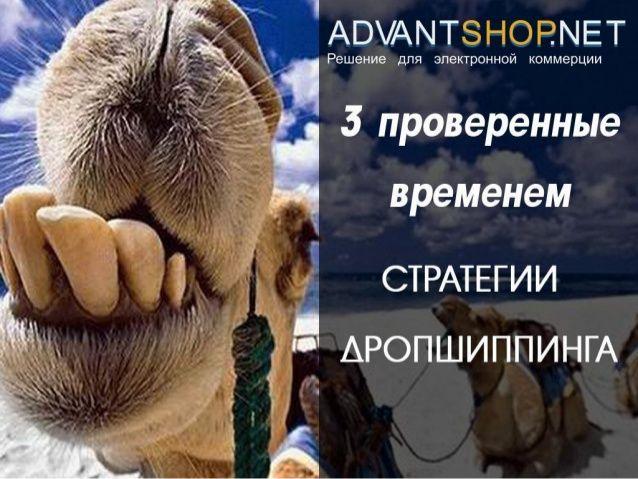 3 проверенные временем стратегии дропшиппинга by AdvantShop.NET via slideshare