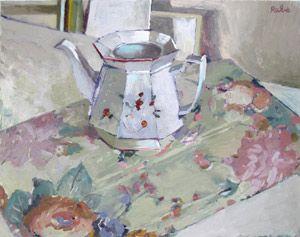Carole Rabe - Artist Octagonal Teapot Oil on canvas, 18 x 24