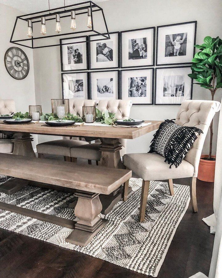 How To Create A Gallery Wall For Your Home Melanie Jade Design In 2020 Farm House Living Room Dinning Room Design Farmhouse Dining Rooms Decor