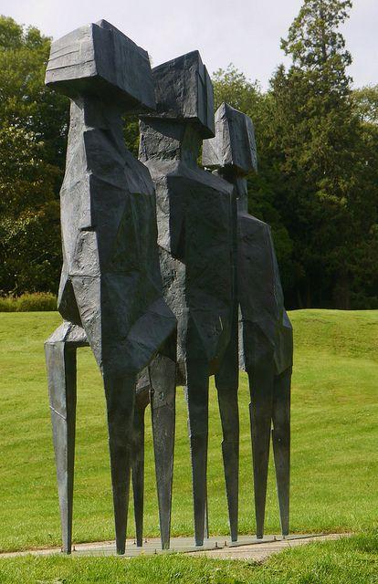 Lynn Chadwick Sculpture Park, Stroud, The Watchers (2) by jacquemart, via Flickr