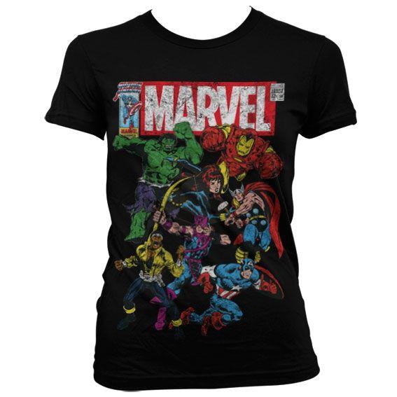 Marvel Heroes Black Koszulka Damska