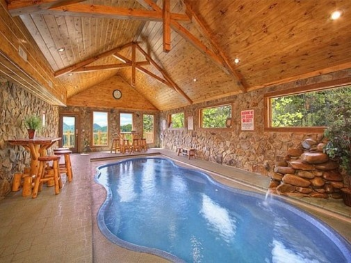 in swimming view gatlinburg sycamore the tennessee cabins with mansions mansion cabin smokies rentals pool