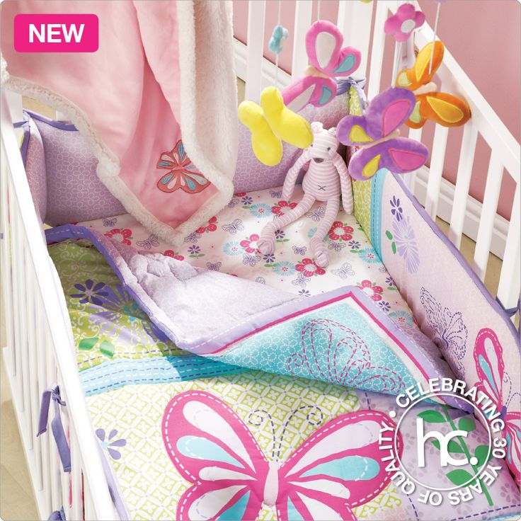The Butterfly bedding is everything you need for a blissful baby.