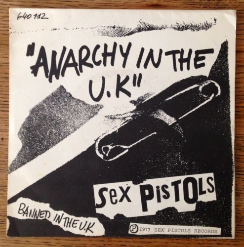 "Sex Pistols Anarchy in The UK French 7"" Picture Sleeve"