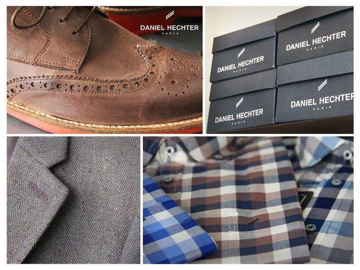 #Estilo #Moda #Hombre #Daniel #Hechter #Look #zapatos #camisa #cuadrille #saco