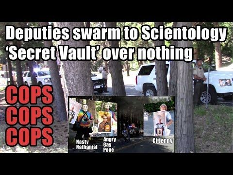 """(748) Deputies swarm Scientology """"Secret Vault"""" over nothing but ignore missing person - YouTube"""