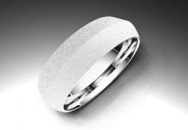 Alianza de oro blanco de 18K modelo Triángulo - Alianzas de oro - Clemente Navarro by LK #alianzas, #anillosdeboda, #boda, #novias www.cnavarro.com