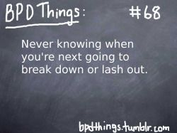 Never knowing...