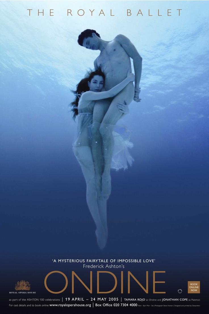 Tamara Rojo and Jonathan Cope in a Royal Ballet poster of Frederick Ashton's Ondine.