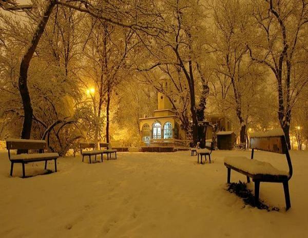 Winter park at nightLights, Church, Parks, Snow, Winter Wonderland, Nature Beautiful, Heavens, Bulgaria