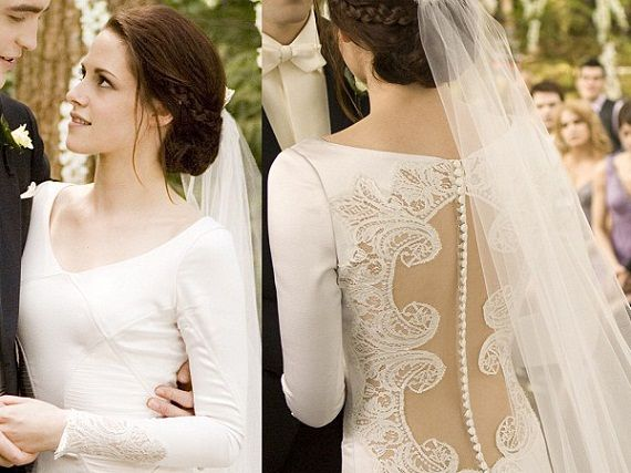 The Twilight Saga: Breaking Dawn-Part 1 (2011) - Runaway Bride Wedding Dress and Other Classical Movie Wedding Dresses - EverAfterGuide