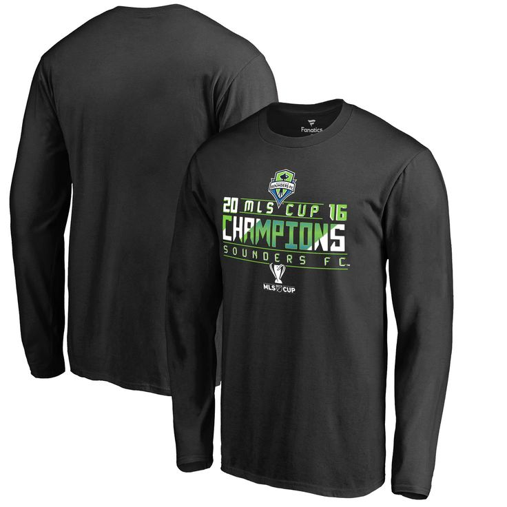 Seattle Sounders FC Fanatics Branded 2016 MLS Cup Champions Big & Tall Thirds Long Sleeve T-Shirt - Black - $34.99