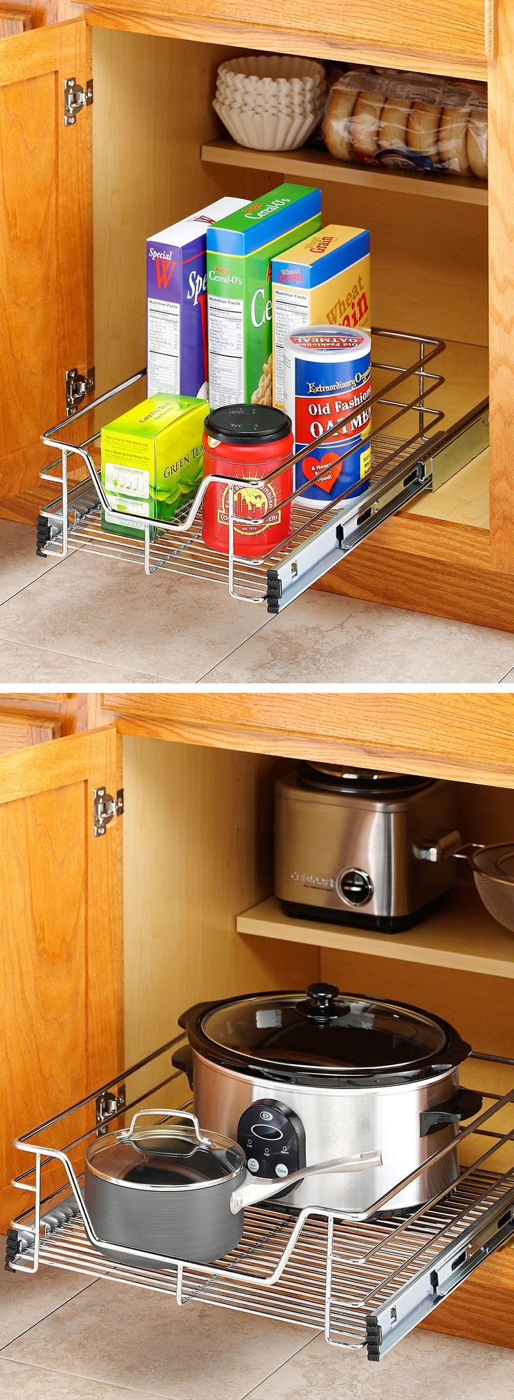 296 best Kitchen - Organized Cabinets images on Pinterest ...