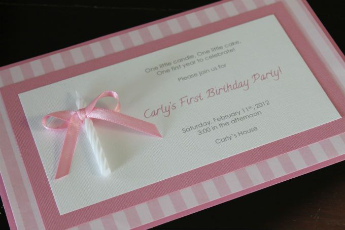 love the candle attached to the invite for 1st bday  so