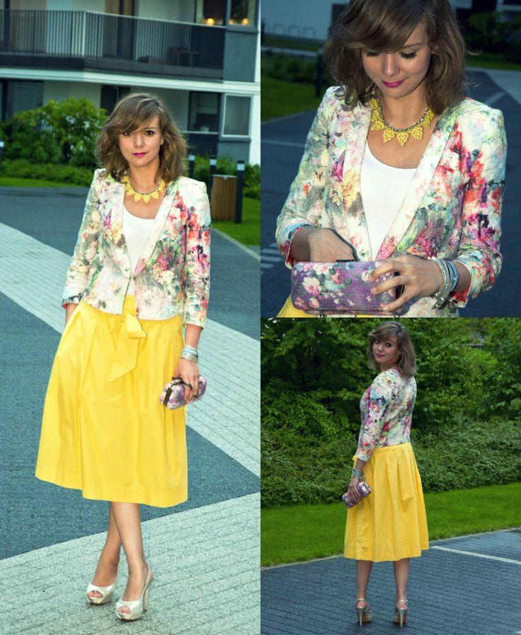 Yellow skory from Zara